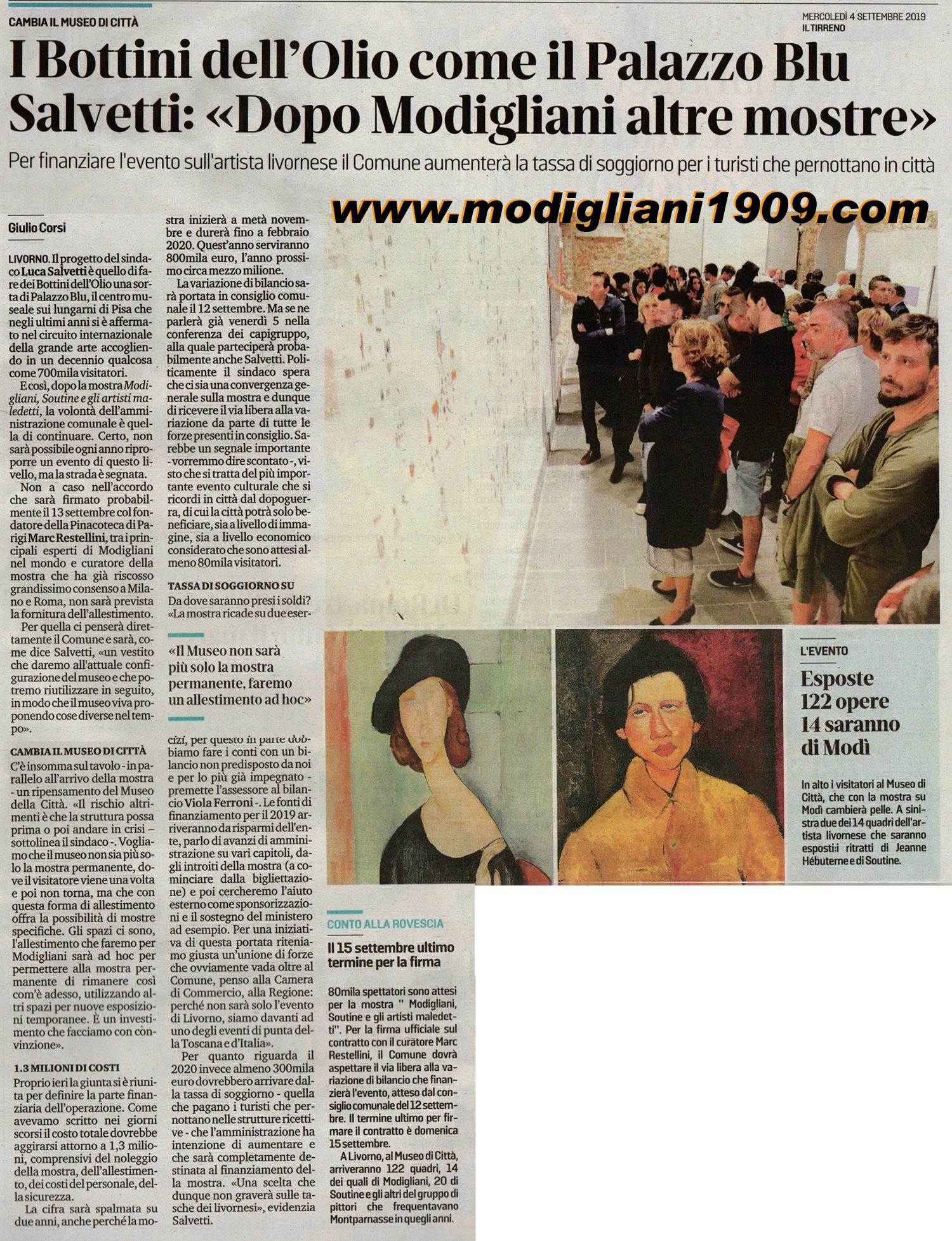 Luca Salvetti: after Modigliani other exhibitions