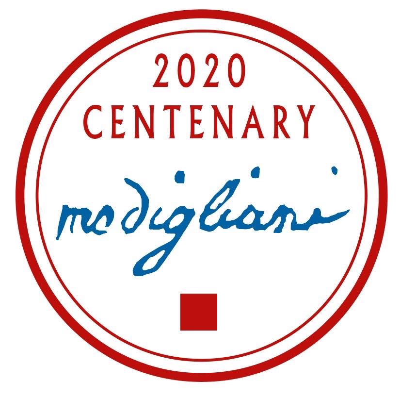 the official logo for the Modigliani 2020 centenary