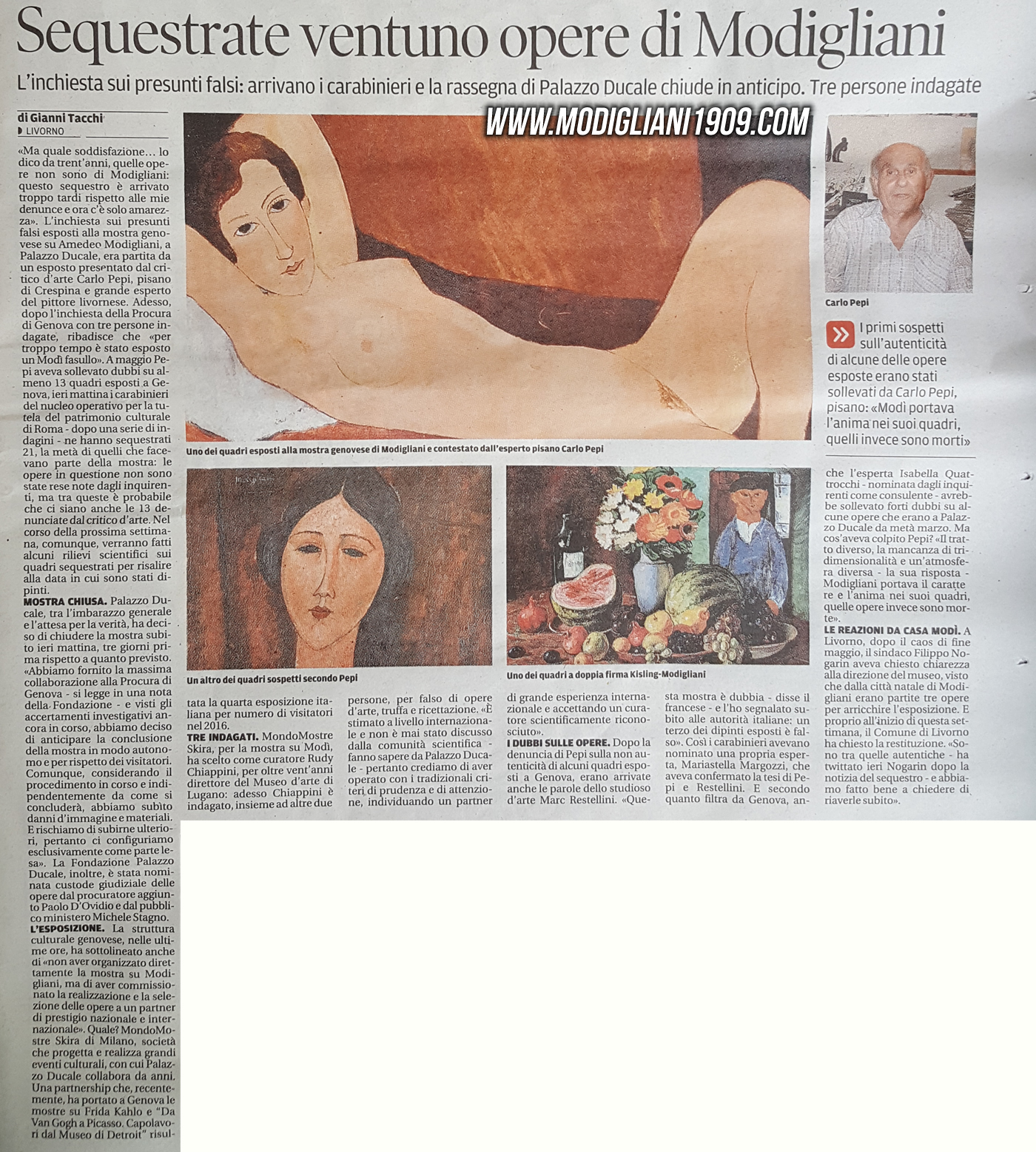 sequestrate 21 opere di Modigliani - Il Tirreno